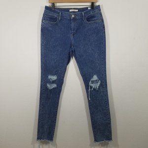Levi's Acid Wash 710 Super Skinny Stretch Jeans 33